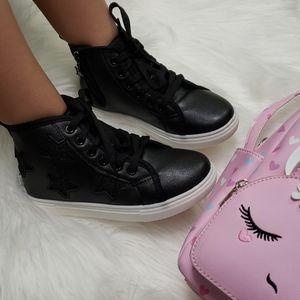 high top glitter sneakers